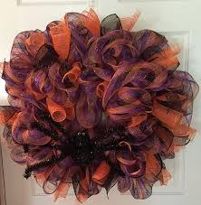 Deco Mesh Halloween Wreath Spiders Halloween Wreaths Halloween Wikii