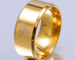 superman wedding band superman wedding band etsy