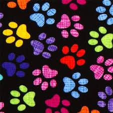 designer fabric black designer fabric with colourful checkered paw prints kawaii