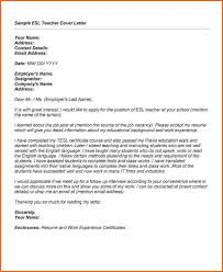 100 cover letter sample for efl teacher teaching english