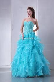 luxurious prom dresses cheap sweetheart beaded organza ice blue