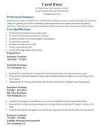 Insurance Experience Resume 16 Free Sample Insurance Assistant Resumes U2013 Sample Resumes 2016