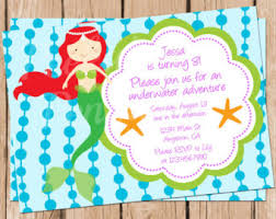 mermaid invitations birthday party invites u0027s