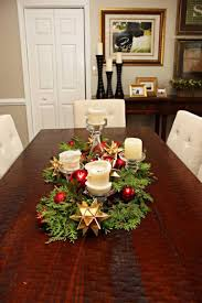 36 round kitchen table christmas evergreen centerpieces easy diy