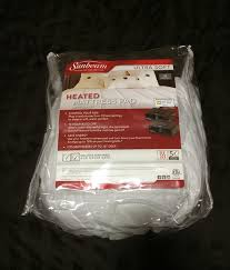 sunbeam quilted heated mattress pad with comforttech controller review