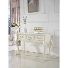 French Provincial Table French Provincial Hall Table W 3 Drawers In White Buy Console