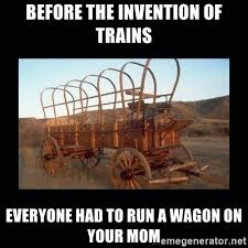 Seahawks Bandwagon Meme - before the invention of trains everyone had to run a wagon on your
