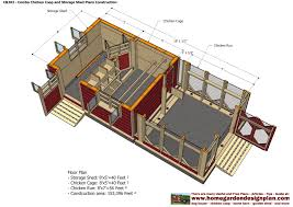 home garden plans cb202 combo plans chicken coop plans