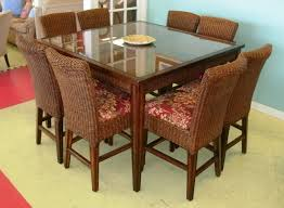 Rattan Dining Room Set Decorating Wonderful Brown Area Rug And Charming Palm Springs