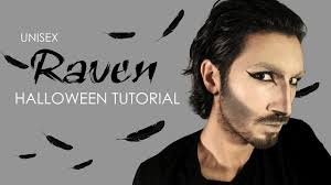 unisex halloween makeup tutorial raven youtube