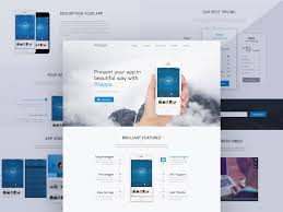 p u003edownload modern app landing page template free psd this is a