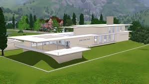 Hillside House Plans With Garage Underneath Modern House Plans For The Sims 3 U2013 Modern House