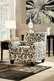accent chair in floral print by signature design by wolf