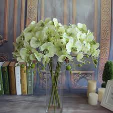 Artificial Flowers Home Decor by Garden Butterfly Orchid Decor Plant Restaurant High Quality Silk