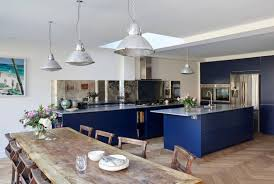 navy blue kitchen cabinet design 24 blue kitchen cabinet ideas to breathe into your kitchen