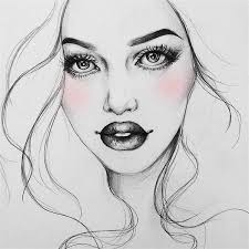 drawn makeup illustration pencil and in color drawn
