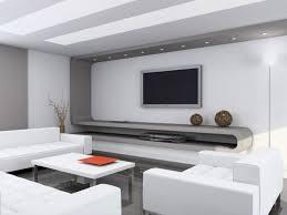 White Home Entertainment Design Ideas With Black Tile Floor home
