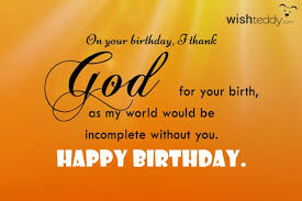 on your birthday i thank god