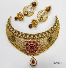 gold necklace new design images Designer gold jewellery manufacturer from new delhi jpg