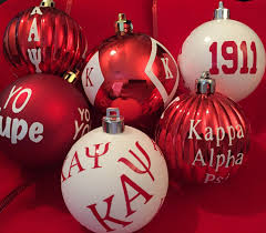 set of fraternity ornaments inspired by kappa alpha psi phi nu pi by
