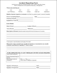 generic incident report template incident report template free premium templates