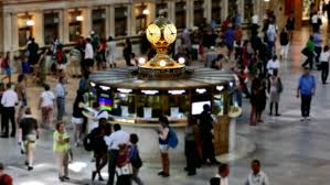 New York travelers stock images Grand central station tourists footage clock famous travel jpg
