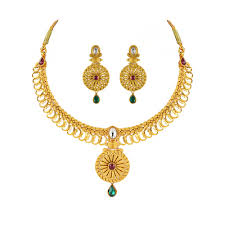 gold necklace jewellery images Bridal gold jewellery sets online buy gold earrings online png