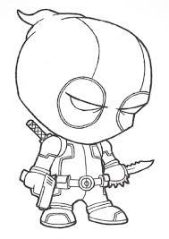 best printable deadpool cartoon coloring books for kids