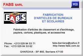 bureau de fabrication imprimerie annuaire des imprimeries et transformation du papier en algerie