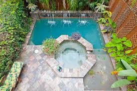 small pools and spas small pool large spa swim jets waterfall features and slate