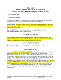 e080 0620 supplemental security income ssi social security