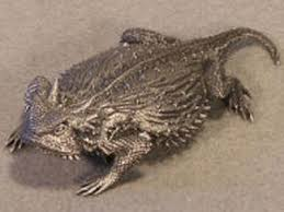 pewter ornaments horned lizard creations toads