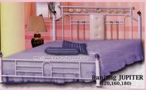 Tempat Tidur Besi Lipat jual ranjang besi minimalis jupiter harga sale