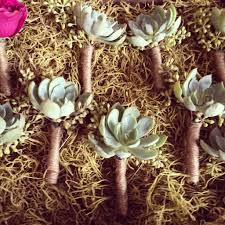 wedding flowers m s gray boutonnieres succulent boutonniere pretty mothers