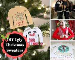Ugly Christmas Sweater Decorations 21 Diy Ugly Christmas Sweater Ideas Craft Paper Scissors