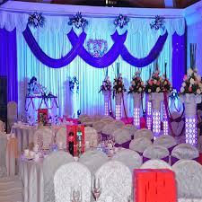 wedding backdrop ebay gorgeous white royal blue color 3x6m wedding backdrop curtain with