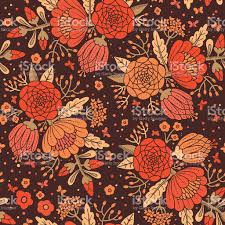 Decorative Flowers by Seamless Vintage Pattern With Decorative Flowers Stock Vector Art