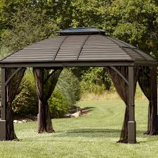 Wooden Screen Gazebos by Exterior Design Simply Hardtop Gazebo Plus Wooden Floor For Bbq