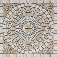 style selections medallions multi colored mosaic travertine floor