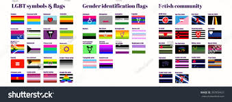 50 Meticulous Style Guides Every Stock Vector Lgbt Flags Flat Vector Illustration