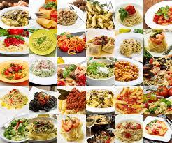 la cuisine italienne un collage de différents plats de pâtes de cuisine italienne photo