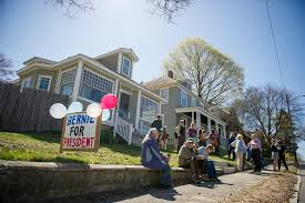 bernie sanders house in vermont even in era of big money rallies the humble n h house party