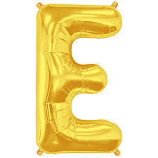 balloon letters letter e gold foil balloon shape b 34 the party bazaar