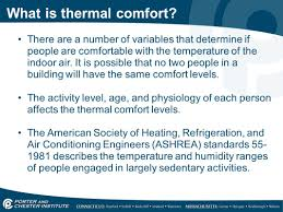 Comfortable Indoor Temperature Hvacr416 Design Introduction To Iaq What Is Indoor Air Quality