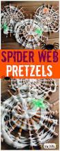 spider web pretzels easy halloween treat for kids easy