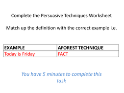 writing to persuade by gabbysundquist teaching resources tes