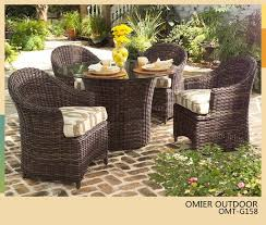Outdoor Rattan Dining Chairs Modern Design Round Table And Chair Set Rattan Dining Set Wicker