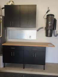 garage cabinets simple workbench butcher block