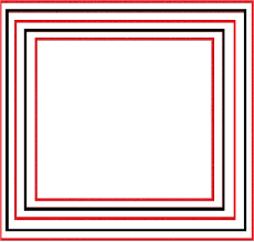 printable colorful red and black border and frame coloring pages