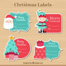 christmas label collection vector free download
